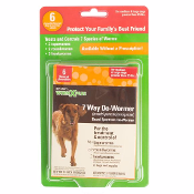 SENTRY WORM X PLUS 7 Way Broad Spectrum Dog De-Wormer 6 Pack