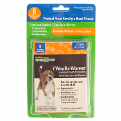 SENTRY WORM X PLUS 7 Way Broad Spectrum 6-25lb Dogs De-Wormer 6