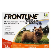 FRONTLINE Plus 5-22 Lb Dog Flea and Tick Treatment 3 Month