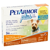 PetArmor Plus Flea and Tick Topical Treatment for Dogs - 4-22 lb