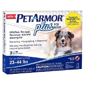 PetArmor Plus Flea and Tick Topical Treatment for Dogs 23-44lb