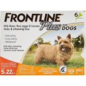 FRONTLINE Plus 5-22 Lb Dog Flea and Tick Treatment 6 Month