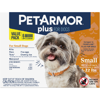 PetArmor Plus Flea and Tick Topical Dogs 4-22 lb 6 Month