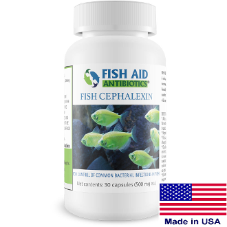 Fish Aid Antibiotics Cephalexin 500 MG 30 CT