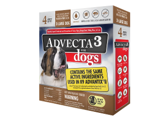 Advecta 3 Flea Drops for Dogs Over 55 LBS. 4ct
